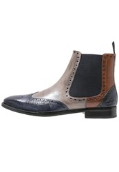 Melvin And Hamilton Martin 5 Boots Venice Guana Navy Venice Light Grey Wood