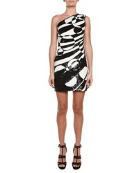 Emilio Pucci Allover Beaded One Shoulder Mini Dress Women's