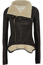 Rick Owens Shearling Jacket Brown