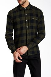 Gilded Age Long Sleeve Classic Fit Plaid Shirt Brown