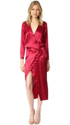Michelle Mason Long Sleeve Wrap Gown Blood