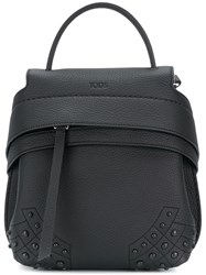 Tod's Wave Studded Rucksack Leather Black