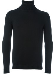 Roberto Collina Turtle Neck Jumper Black