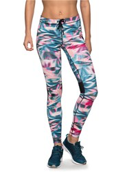 Roxy Stay On Technical Running Leggings Multi Coloured Multi Coloured