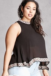 Forever 21 Plus Size Tribal Trim Tank Top