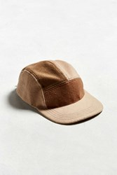Urban Outfitters Uo Fleece 5 Panel Hat Brown