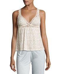 Eberjey Floral Garland Lace Cami Neutral Pattern