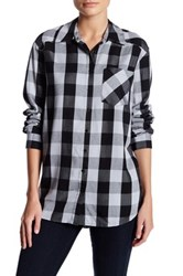 Kensie Long Sleeve Plaid Shirt Multi