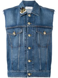 Sonia Rykiel Sleeveless Denim Jacket Blue