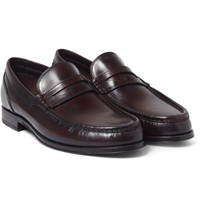 Brioni Leopold Polished Leather Loafers