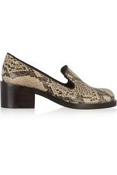 Stella Mccartney Snake Effect Faux Leather Loafers Animal Print