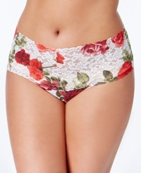 Hanky Panky Plus Size Rose Red Retro Lace Thong 3J1926x