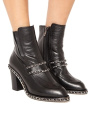 Pixie Market Chain Leather Boots