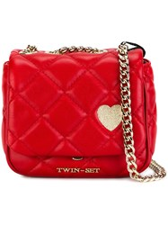 Twin Set Quilted Crossbody Jacket Red