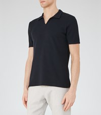 Reiss Exmoor Mens Textured Polo Shirt In Blue