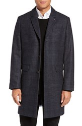 Ted Baker Men's London Capri Trim Fit Plaid Overcoat