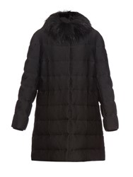Moncler Gamme Rouge Fur Collar Quilted Down Coat