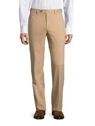 Saks Fifth Avenue Slim Fit Microfiber Trouser Tan