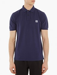 Stone Island Blue Regular Fit Polo Shirt