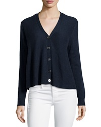 Minnie Rose Cashmere Swing Cardigan Bleu Marine