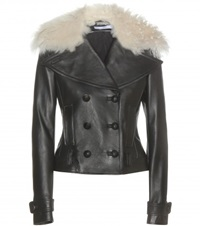 Altuzarra Fur Trimmed Leather Jacket Black