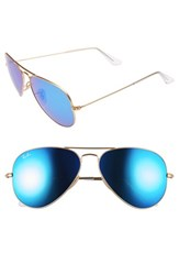 Ray Ban Men's 'Original Aviator' 58Mm Sunglasses Matte Gold Blue Mirror Matte Gold Blue Mirror