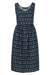 Sugarhill Boutique Beatrice Sail Away Sundress Navy