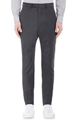 Officine Generale Men's Flannel Slim Fit Trousers Grey