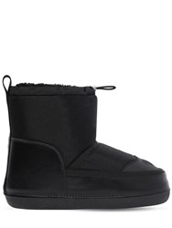 Dsquared Nylon And Faux Shearling Snow Boots Black