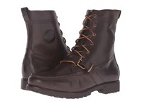 Polo Ralph Lauren Ranger Dark Brown Smooth Oil Leather Men's Lace Up Boots