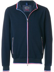 Paul And Shark Zipped Fitted Sweatshirt Blue