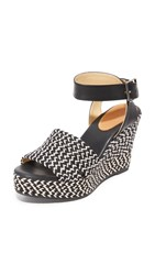 Matt Bernson Bahia Wedges Black White