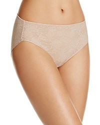 Tc Fine Shapewear Intimates Allover Lace Hi Cut Brief A4 194 Nude