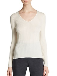 Akris Ribbed Cashmere And Silk Top Shore
