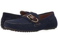 Polo Ralph Lauren Whiteley Newport Navy Tan Sport Suede Smooth Oil Leather Men's Shoes