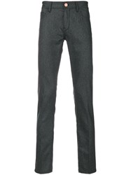 Pt05 Slim Fit Trousers Spandex Elastane Virgin Wool Grey