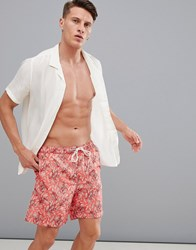 Selected Homme Printed Swim Shorts Red