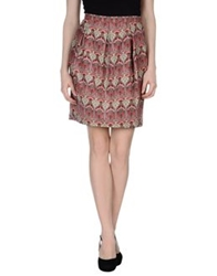 Laura Urbinati Knee Length Skirts Brick Red