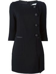 Aquilano.Rimondi Aquilano. Rimondi Button Front Mini Dress Black