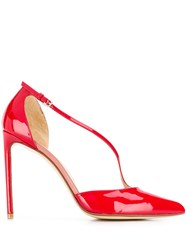 Francesco Russo Patent 110Mm Pumps Red