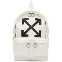 Off White Brushed Arrows Backpack