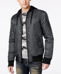 American Rag Men's Quilted Hooded Bomber Jacket Only At Macy's Reflextion