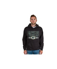 Authentic Nfl Apparel Men's Green Bay Packers Ice Cold Hoodie Charcoal