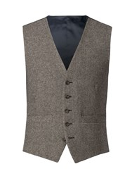 Racing Green Men's Sand Donegal Big And Tall Waistcoat Sand