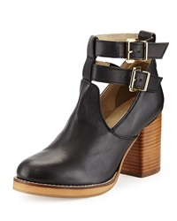 Seychelles Maximum Ankle Wrap High Heel Bootie Black
