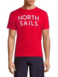 North Sails Logo Printed Tee Red Off White