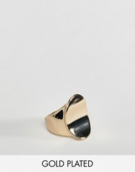 Fiorelli Gold Plated Concave Signet Ring