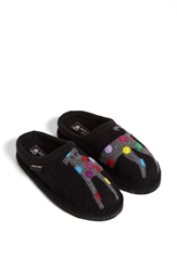 Haflinger 'Dog' Slipper Black