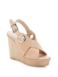Bcbgeneration Leather Open Toe Wedge Sandals