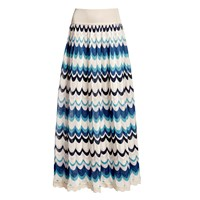 Rumour London Tahiti Wavy Striped Maxi Skirt Blue